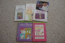 6 AMERICAN GIRL books,  Art Stars, sparkle, guide to boys, just mom & me
