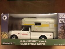 Greenlight  1968 Chevy  C10 Pickup  w/ Silver Streak Slide - In Camper