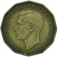 1937 BRASS THREEPENCE GEORGE VI BEAUTIFUL COLLECTIBLE    #WT29739