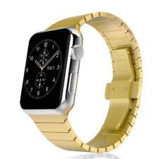 Armband für Apple Watch Series 6/SE/5/4/3/2/1 Gliederarmband 42mm/44mm gold