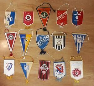 15x different  Vintage Pennant Football club of  Yugoslavia