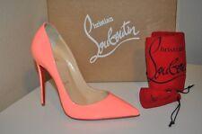 5345ff818ca1 NIB Christian Louboutin So Kate Pointy Toe 120 Pump Shoe 36 FLAMINGO Patent  6