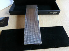 S.T. Dupont Paris Table Lighter End of the 60th! Diamond Style SILVER plated