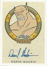 "Xena & Hercules Animated - David Mackie ""Porphyrion"" Autograph Card"