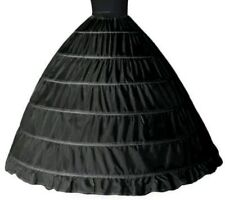 6 layer hoop skirt petticoat black -usa seller