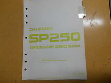 1983 Suzuki SP250 SP 250 Supplementary Service Manual 99501-42000-03E
