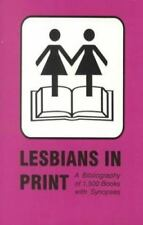 Lesbians in Print: A Bibliography of 1500 Books With Synopses, , Acceptable Book