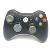 Official Microsoft Xbox 360 Wireless Controller Black Tested X801769-022 OEM
