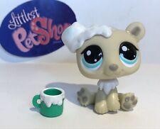 Polar Bear #1000 W/ Accessories - Authentic Littlest Pet Shop - Hasbro Lps