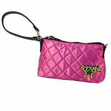 NEW! NHL Dallas Stars Pink Quilted Wristlet