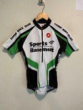 Castelli Cycling Biking Riding Jersey Size MEDIUM Adult Sports Basement USA Made