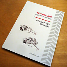 New Holland Super 66 S66 Baler Hayliner Operator's Owners Book Guide Manual