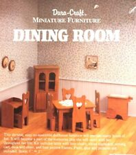 NEW Dura-Craft Miniature Wooden Furniture Kit DINING ROOM Dollhouse Craft Table