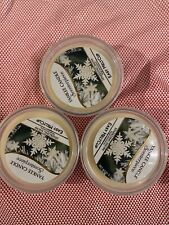 Yankee Candle SPARKLING SNOW Melt Cups Wax for Scenterpiece Lot of 3