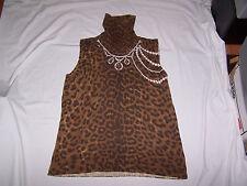 LUISA CERANO Sleeveless Wool Virgin Sweater Size 14