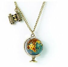 Charm Globe Telescope Celebrity Bronze Pendant Long Chain Necklace Chain gift