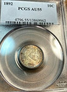 1892 Barber Dime PCGS AU55 Superb Flash and Eye Appeal Best Price Ebay CHN