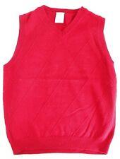 GYMBOREE Red Argyle Knit Sweater Vest Boys Size Small 5-6