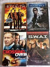 DVD Lot 4-Stealth-Miami Vice-SWAT-Crossing Over