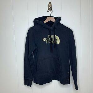 TNF The North Face Womens Pullover Hoodie Sweatshirt Black Golf Size Medium Logo