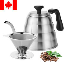Gooseneck Kettle Stainless Steel Coffee Pour Over with Built-in Thermometer 40oz