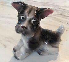 Occupied Japan Figurine Mint China Little Dog Terrier Bright Eyed