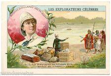 CHROMO. LES EXPLORATEURS CéLèBRES. Mlle JANE DIEULAFOY NéE EN 1851