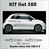 Fiat 500 - Kit autocollants Bandes complet - sticker adhésif