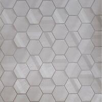 Modern Lamborghini Hexagon taupe metallic fabric textured Wallpaper Geometric 3D