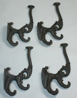 "Rustic 7/"" Cast Iron 4-Hook Coat Hook Rack Hall Tree Lodge Cabin Mirror"