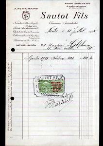 "NANTES (44) FOURRURES & NATURALISATION ""A ST-HUBERT / SAUTOT Fils"" en 1925"