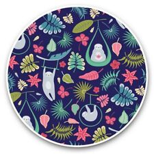2 x Vinyl Stickers 30cm - Cool Jungle Lazy Sloths Pattern  #44712