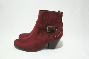 Size 8 Womens Wine Red Arch Support Chelsea Boots