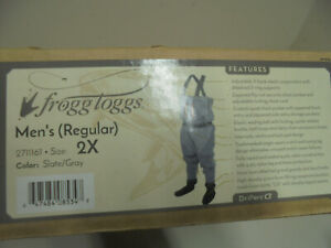 Frogg Toggs Pilot II Breathable Stocking Foot Chest Waders 2XL Fly Fishing