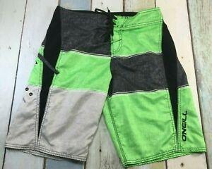 O'NEILL - BOARD / SURF SHORTS - MEN'S SIZE: 31 green / black,.ZIPPER POCKET