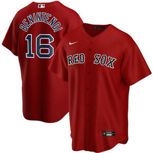New 2021 Boston Red Sox Andrew Benintendi #16 Nike Alternate Replica Team Jersey