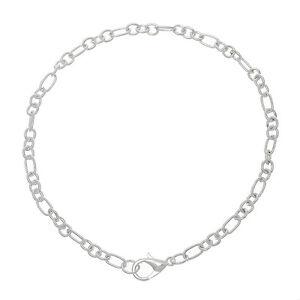 ❤ 12 x Wholesale Silver Plated Charm Chain BRACELETS Choose Size Jewellery UK ❤