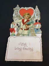 Vintage Valentine Fold-Out Greeting Card