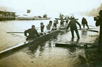 OLD PHOTO Coxed Eight Of The Oxford University Rowing Crew