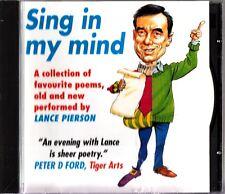 Lance Pierson - Sing in My Mind- The Best of Favourite Poems CD (Auden/Moffat)