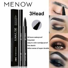 MENOW Patented Eyebrow Tattoo Pen Fork Tip Sketch Waterproof Makeup Pen 1PC 2018