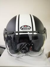Casco Airoh Naked Luxury XL nero opaco bianco Scooter Moto #ANLUX