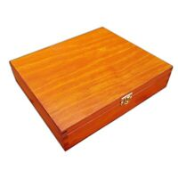WOODEN BOX  29x25x6cm IN LIGHT BROWN COLOR