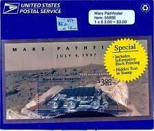 Stati Uniti America (USA) 1997 Missione su Marte sonda Pathfinder B Foglietto **