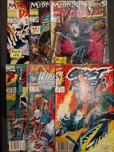 Marvel and Image Assorted Comics, Lot of 6 Books - Ghost Rider, Midnight Sons