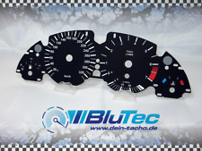 Tachoscheiben für Tacho BMW E38 E39 E53 5er X5 330kmh - DEEP BLACK -