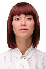 PERRUQUE SEXY PAGE long carré coiffure marron cuivré LISSE cheveux 25cm 7803-35