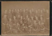 Military Bandsmen and some Boys   Cabinet  Card     Uniforms    Drums     JX2386