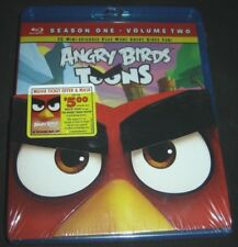 Angry Birds Toons Season One Vol. 2 (Blu-ray Disc, 2014) New with Mask