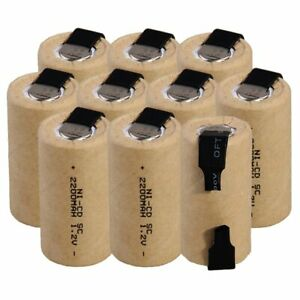 Lowest price 10 piece SC battery 1.2v batteries rechargeable 2200mAh nicd batter